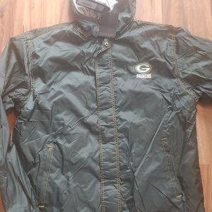 Green Bay Packers Jacket Full-Zip Up Windbreaker